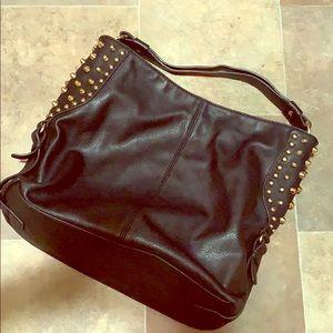 Handbags - Black Spike Hobo Purse